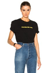 Off White Feeling Real Tee In Black