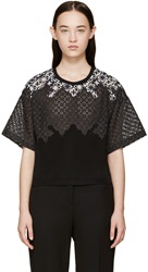 3.1 Phillip Lim Black Lace Patchwork Boxy Tee