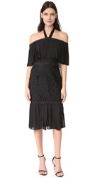 Temperley London Berry Lace Cocktail Dress Black