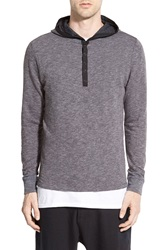 Howe 'Longshoreman' Hooded Long Sleeve Shirt Grey Wall Street