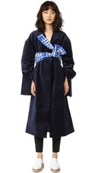 Jacquemus Belted Coat Navy