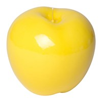 Bitossi Home Wax Apple Candle Shiny Yellow