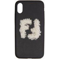 Black Shearling 'Forever Fendi' Iphone X Case
