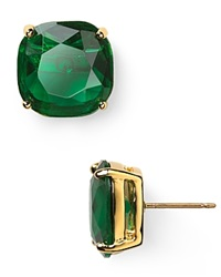 Kate Spade New York Small Square Stud Earrings Emerald
