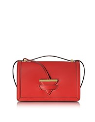 Le Parmentier Diodora Shoulder Bag W Triangle Charm Red
