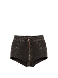 Vetements X Levi's High Cut Denim Shorts Black