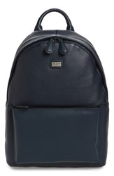 Ted Baker London Leather Backpack Blue Navy