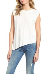 Hudson Jeans Roll Sleeve Tank Off White