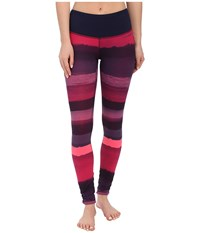 Brooks Greenlight Tights Se Navy Scape Light Bloom Women's Casual Pants Pink