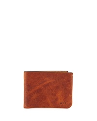Will Leather Goods Tumbled Leather Billfold Wallet Cognac