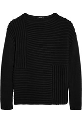 Raoul Ribbed Knit Sweater Black