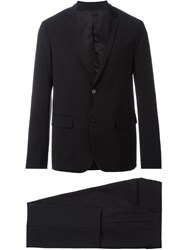 Paolo Pecora Notched Lapels Suit Black