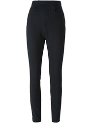 Haider Ackermann High Waist Skinny Fit Trousers Black