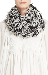 Chloe Women's Palm Fil Coupe Scarf Black White