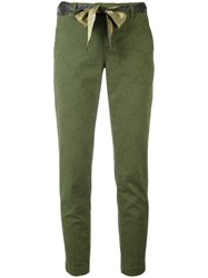Jacob Cohen Slim Fit Trousers Women Cotton Spandex Elastane 32 Green