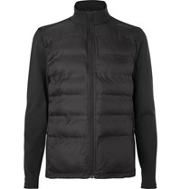 2Xu Quilted Shell And Stretch Jersey Jacket Black