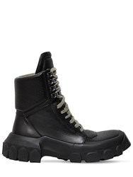 Rick Owens 40Mm Leather Hiking Sneaker Boots Black