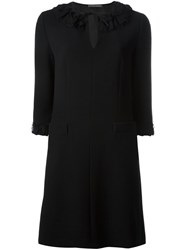 Alberta Ferretti Three Quarters Sleeve Dress Black