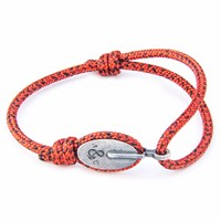 Anchor And Crew Red Noir London Rope Bracelet