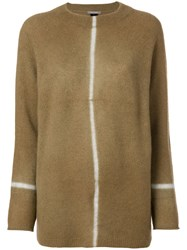 Suzusan Long Knit Sweater Nude And Neutrals