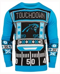 Forever Collectibles Men's Carolina Panthers Light Up Ugly Crew Neck Sweater Blue Black White