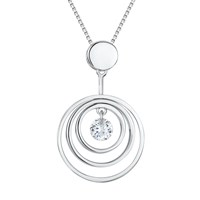 Jools By Jenny Brown Sterling Silver Cubic Zirconia Pendant Necklace Silver