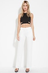 Forever 21 High Waisted Pants Winter White
