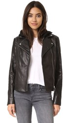 Mackage Yoana Pebbled Leather Jacket Black