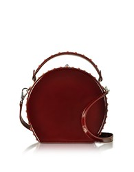 Bertoni 1949 Chianti Leather Bertoncina Satchel Bag Burgundy