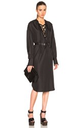 Tome Peasant Tunic Dress In Black