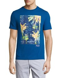 Penguin Palm Graphic Jersey T Shirt Blue