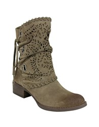Naughty Monkey Vamp Phyer Suede Boots Taupe