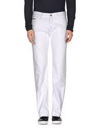 Love Moschino Denim Denim Trousers Men White