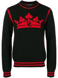 Dolce And Gabbana Crown Logo Jumper Black
