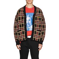 Ovadia And Sons Plaid Wool Oversized Cardigan Multi