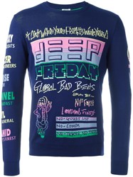 Kenzo Graphic Pattern Sweater Blue