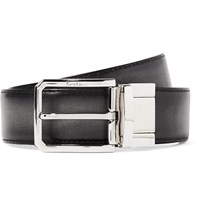 Berluti 3.5Cm Scritto Reversible Leather Belt Gray