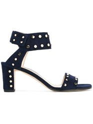 Jimmy Choo Studded Heel Sandals Blue