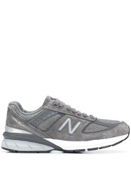 New Balance Logo Embroidered Sneakers Grey
