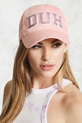 Forever 21 Duh Sequined Baseball Cap Pink Pink