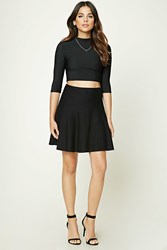 Forever 21 Mini Skater Skirt Black