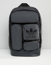Adidas Originals Multi Pocket Backpack In Black Ay8663 Black