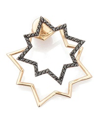 Geometry Black Diamond Star Earring Kismet By Milka