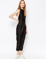 Daisy Street Jumpsuit With Halterneck Black