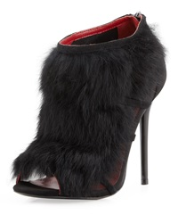 Charles Jourdan Ecliptic Fur Bootie Black