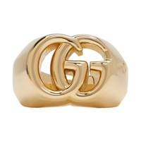 Gucci Gold Gg Running Ring