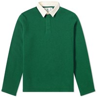 Barbour Earl Knit Rugby Shirt White Label Green