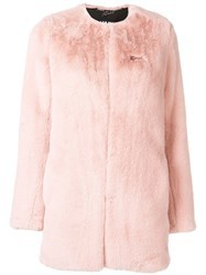 Karl Lagerfeld X Kaia Faux Fur Coat Pink And Purple