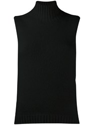 Stefano Mortari Tank Knit Sweater Black