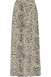 By Malene Birger Looki Leopard Print Crepe Maxi Skirt Animal Print